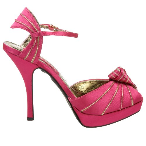 PREEN Bolero Satin Fuschia & Doré Hot Pink