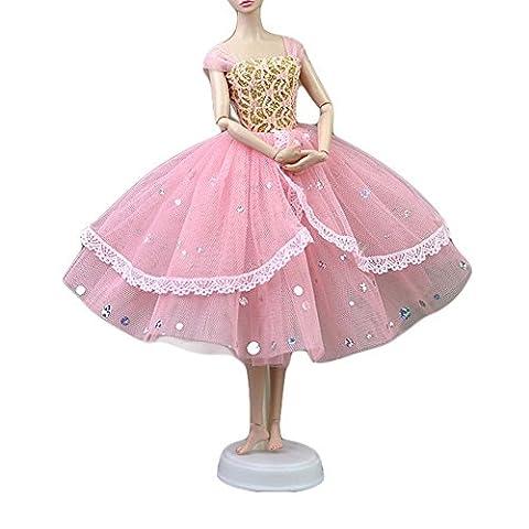 Handmade Doll Soirée Robe Doll Clothes Multilayer Gauze Skirt Doll Dress