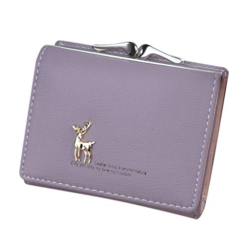 Cenlang Wallet For Women With Coin Pocket Bag,Coin Purse Pouch Wallet Money Bag,Id Card Holder Slim Coin Purse,Ladies Handbag(Blue,Black,Purple,Pink,Watermelon Red) - Croc Embossed Wallet