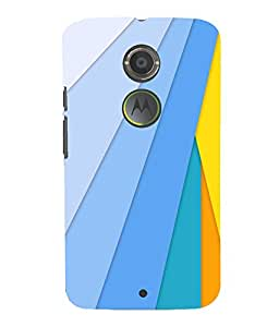 printtech Colored Lines Back Case Cover for Motorola Moto X2::Motorola Moto X (2nd Gen)