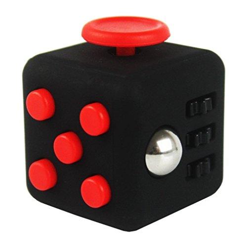 SamGreatWorld Noir/Rouge Mini Fidget Cube Soulage Le Stress et l'Anxi¨¦t¨¦ Toy 6-Side Focus Attention Th¨¦rapie Outil Hand Dice Jouet pour Enfants et Adultes pa