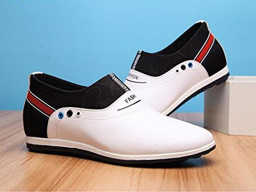 HYLM Estate Il nuovo all'interno della scarpa degli uomini di aumentare Versione coreana Scarpe casual confortevoli traspiranti White