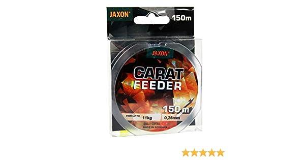 Jaxon Carat Feeder Bobine de Fil de p/êche 150 m 0,18-0,35 mm