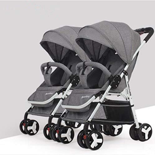 Defect Twin Kinderwagen können sitzen und Falten Doppelwagen Größe Baby hoch Landschaft Kinderwagen 2 Sätze
