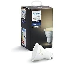 Philips Hue White Ambiance GU10 LED Spot Erweiterung, dimmbar, alle Weißschattierungen,steuerbar via App, kompatibel mit Amazon Alexa (Echo, Echo Dot)