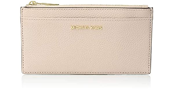 52cc9b7d12bb09 MICHAEL by Michael Kors Money Pieces Soft Pink Leather Slim Card Case one  size Soft Pink: Amazon.co.uk: Clothing