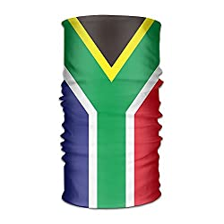 Unisex South Africa Flag Variety Scarf 12 Inches Bandanna Headwear Scarf Wrap Neck Gaiters Headband For Running,Yoga,Hiking from Liuzhis