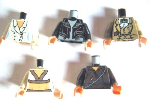 LEGO INDIANA JONES - 5 seltene Oberkörper - Willie Scott, Mutt Williams, Cemetery Warrior, Elsa Schneider, Henry Jones