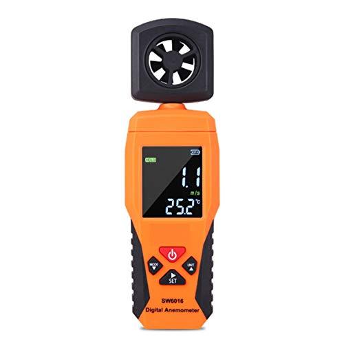 Noradtjcca Digital-Anemometer-Thermometer-Temperatur-Prüfvorrichtung-bewegliches Wind-Luftgeschwindigkeitsmesser-Messinstrument-Windmesser-Messen