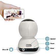 Cámara IP, 720p HD Wifi Smart Home cámara IP con montion Dection, 2way Audio, mando a distancia de visión nocturna cámara IP