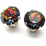 End of line clearance. 925 Sterling Silver stud earrings handmade with Volcano crystal from SWAROVSKI® for Women