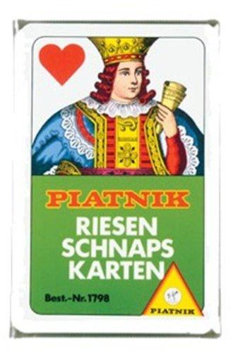 Piatnik 1798 Riesenschnapskarten franz 24 Bl