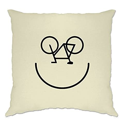 Fahrrad-Smiley, Printed Designer Logo Neuheit Radfahrer Kunstsommer Polsterbezuge