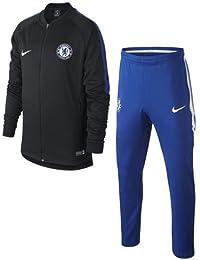 Nike cfc y NK Dry Sqd TRK K, traje de fútbol Unisex Niños, Cfc Y Nk Dry Sqd Trk K, Nero/Rush Blue/Rush Blue/Bianco, Medium