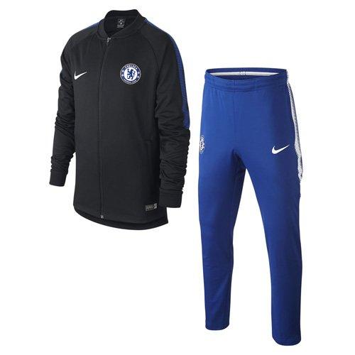 Nike 905396 Survêtement de Football Mixte Enfant, Noir/Bleu Adrénaline/Blanc, FR (Taille Fabricant : XS)