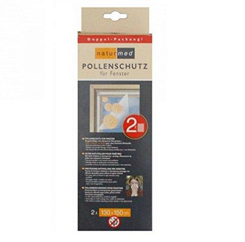 2er Set Pollenschutz Insektenschutz Mückenschutz Gitter für Fenster 130x50cm
