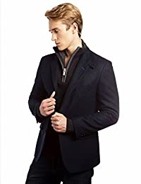 VEDONEIRE Mens Wool Blazer (3084S Navy) blue jacket blazer