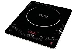 V Guard VIC-2000 2000-Watt Induction Cooktop (Black/White)