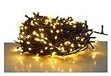 LED Lichterkette mit 120 LEDs - warmweiß - für den Innen- und Außenbereich (12 m - 120 LED)