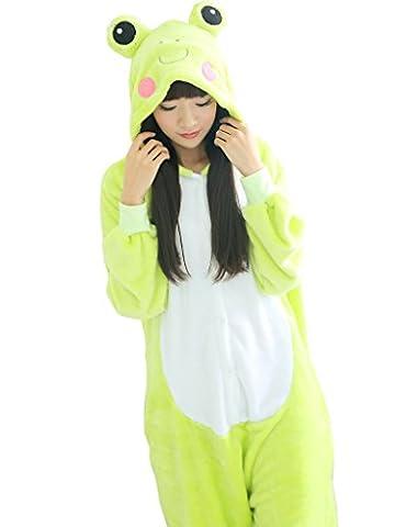 Unisex Adult Kigurumi Pyjamas Animaux Onesie 3D Frog M