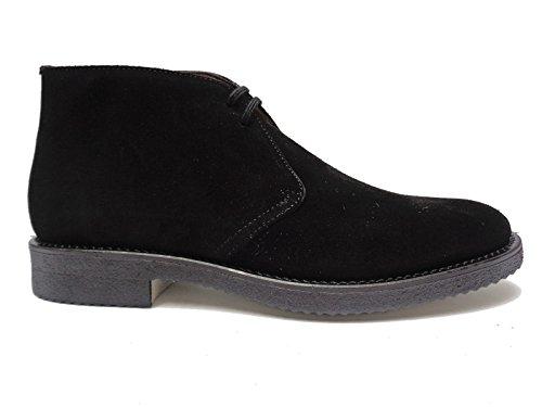 Antica Cuoieria scarpe casual da uomo in camoscio Nero fondo in para,n. 42