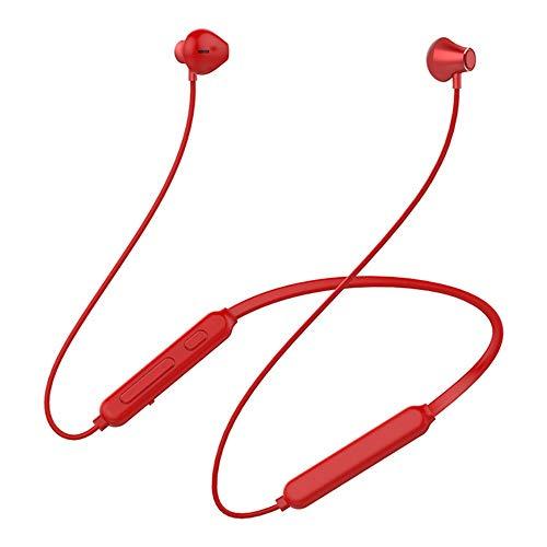 KCJMM Bluetooth-Headset, kabelloses Headset, Bluetooth 4.0 Leichtes Stereo-Headset, Sport-Headset und eingebautes Mikrofon, rot