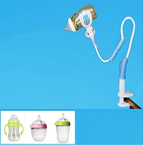 cuzit Baby Flasche Halter, Universal Infant Bett Tasse Clip Lazy Halterung Flexible lange Arme Ständer für Baby-Schlafzimmer Desktop Bett Kinderwagen -