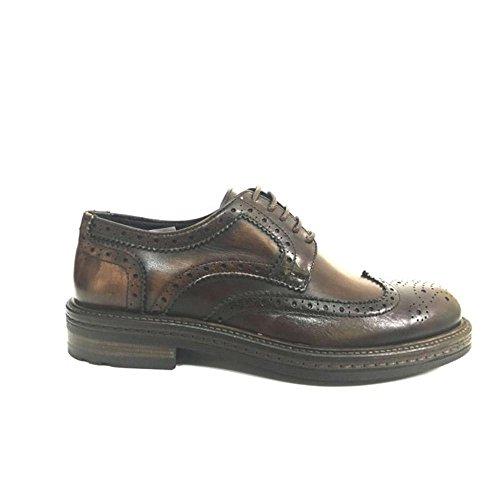 Exton scarpa elegante uomo pelle marrone, 45