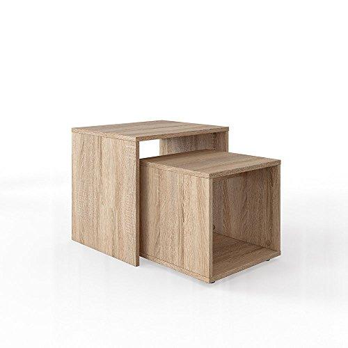 Eiche Tisch (Vicco Couchtisch Beistelltisch Set - Wohnzimmer Sofatisch Kaffeetisch 2 Farbvarianten - Top Design (Sonoma Eiche))