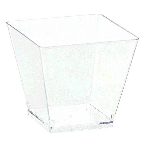 Amscan Mini Klar Cube Schalen 59ml