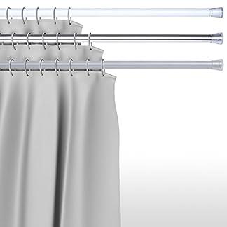 Aquamarin® – Barra para cortina de ducha, regulable entre 75/128 cm (tres acabados a elegir)