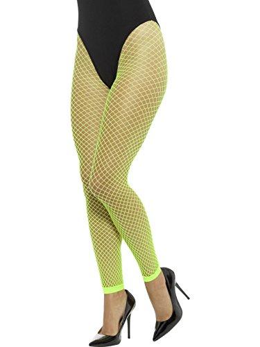 rumpfhose ohne Füße, One Size, Neon Grün, 45157 (Netzstrumpfhose Neon-grün)