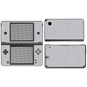 atFoliX Skin kompatibel mit Nintendo DSi XL, Designfolie Sticker (FX-Brushed-Alu), Gebürstet / Bürsten-Struktur