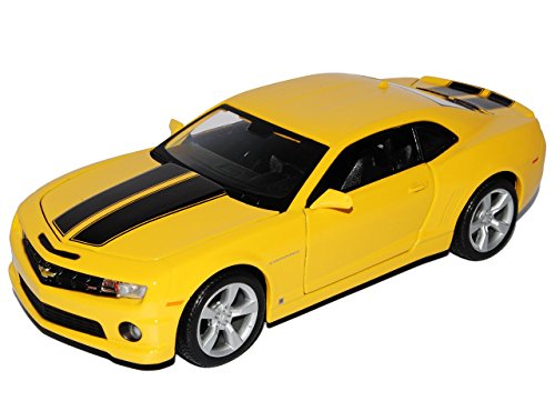 Chevrolet Chevy Camaro Ss RS 2010 Coupe Gelb Schwarze Streifen Bumble Bee Bumblebee TransformeRS 1/24 Maisto Modellauto Modell Auto (Bee-transformer-auto Bumble)