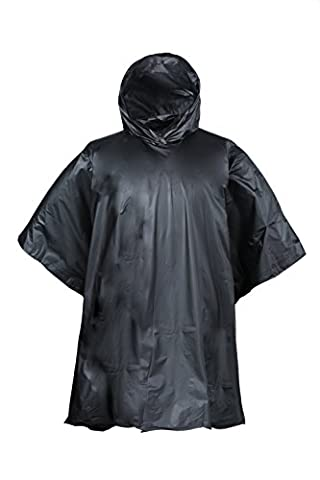 Mountain Warehouse Waterproof Packaway Hooded Poncho - Lightweight with Welded