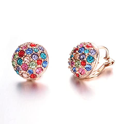 Yoursfs Sparkly Round Half Ball Clip On Earrings for Women