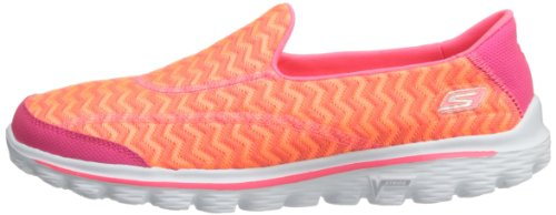 Skechers Go Walk 2 Chevron, Sandales dathlétisme et sports de plein air femme Hot Pink/Orange