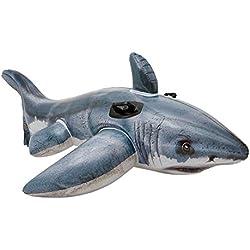 Intex Tiburón hinchable fotorrealista + 2 asas - 173 x 107 cm (57525)