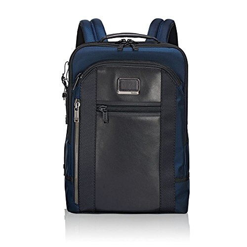 Tumi Alpha Bravo - Davis Laptop Backpack 15' Mochila Tipo Casual, 42 cm, 11.87 Liters, Azul (Navy)
