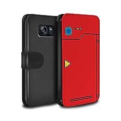Stuff4® PU-Leder Hülle/Case/Tasche/Cover für Samsung Galaxy S7/G930/Rot Muster/Anime Cartoon Kodex Kollektion