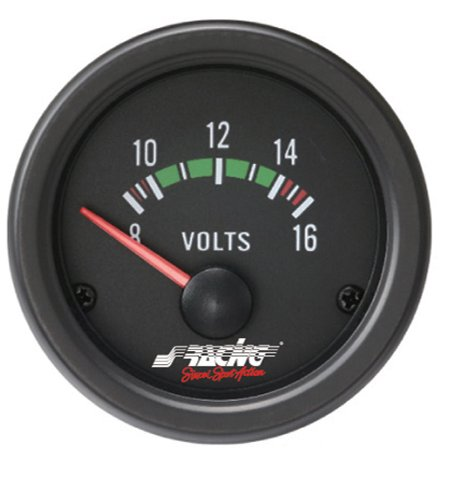 Simoni Racing VM/B Voltmetro Elettrico, Nero