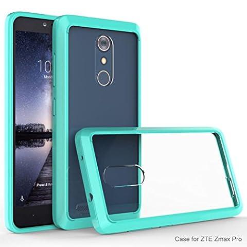 ZTE Zmax Pro Z981 Case,Bescita Transparent Crystal Clear Hard Air Hybrid Case Cover for ZTE Zmax Pro Z981 (Mint Green)
