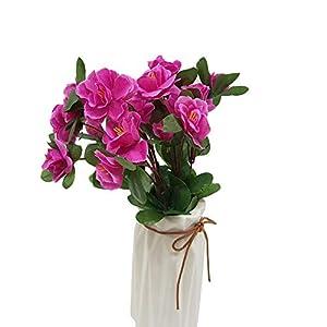 LAAT Flores Artificiales Decoración, Rosas para el hogar, Flores Seda Plásticas Ramo Nupcial de la Boda para Fiesta,35cm(no Jarrones) (A)