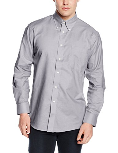 Fruit of the Loom SS101M, Chemise Business Homme, Medium Grey (Oxford Grey)