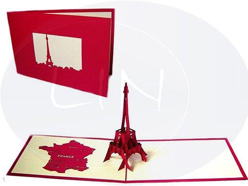 POP UP Architektur 3D Karte Der EIFELTURM, Paris (#178)