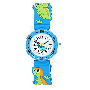 ele ELEOPTION Silikon Armband Kinderuhr Wasserdicht 3D Cartoon für Kleine