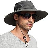 EINSKEY Sun Hat for Men/Women, Summer Outdoor Sun Protection Wide Brim Bucket Hat Waterproof Breathable Packab