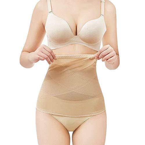 Cinturón adelgazante para el cuerpo, Cinturón transpirable para mujer con faja reductora adelgazante - Cinturón de cintura, Flesh, XL
