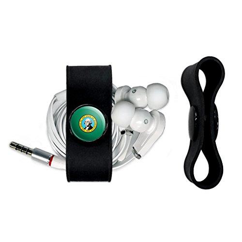 Washington State Handy (Washington State Flagge Kopfhörer Kopfhörer Kabelaufwickler–Ladekabel Manager–Draht Organizer Set–Schwarz)