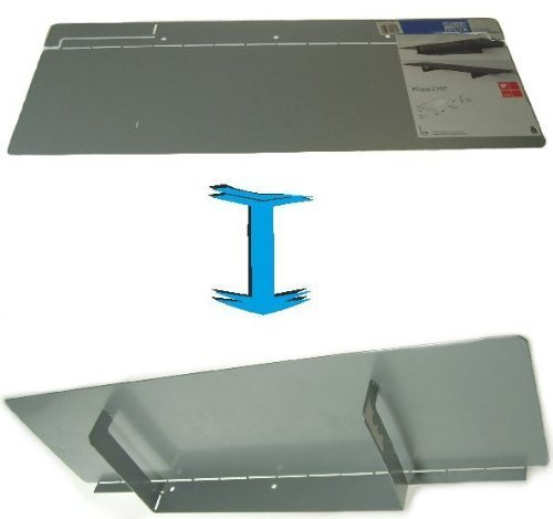 Klappregal Design Regal Wandregal Metallregal 230x618mm